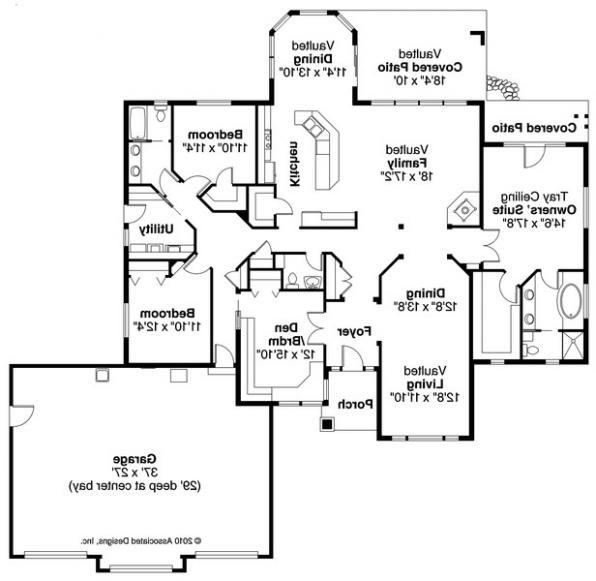 Meadow Lake - 30-767 - RanchHome Plan  - Floor Plan