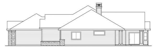 Meadow Lake - 30-767 - Ranch Home Plan - Left Elevation