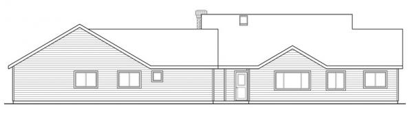 Ardella - 30-785 - Ranch Home Plan - Rear Elevation
