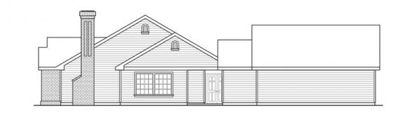 Ardella - 30-785 - Ranch Home Plan - Left Elevation