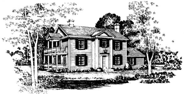 Rossford - 42-006 - Colonial Home Plans - Front Elevation