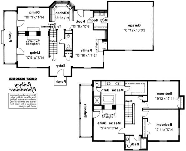 Rossford - 42-006 - Colonial Home Plans - Floor Plan