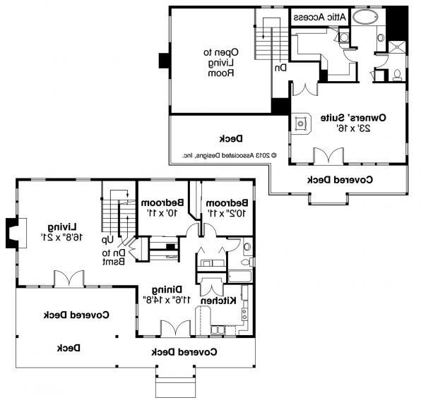 Avondale - 10-347 - Lodge Home Plan - Floor Plan