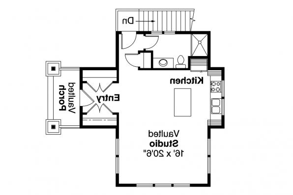 2 Car Garage Plan - 2nd Floor Plan