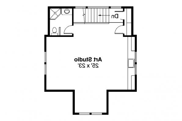2 Story Garage Plan 20-007 - 2nd Floor Plan