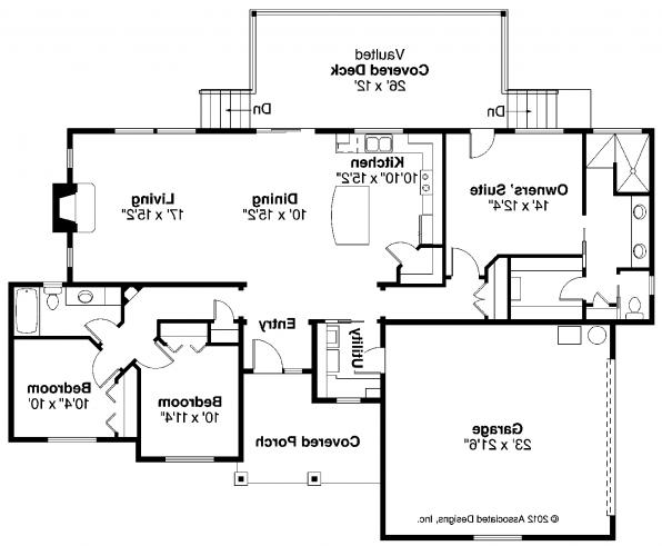 Kensington - 30-843 - Country Home Plans - Floor Plan