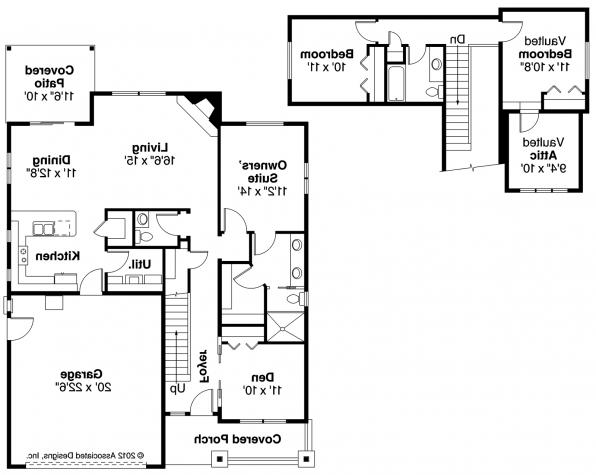 Cedar Ridge - 30-855 - Craftsman Home Plan - Floor Plan