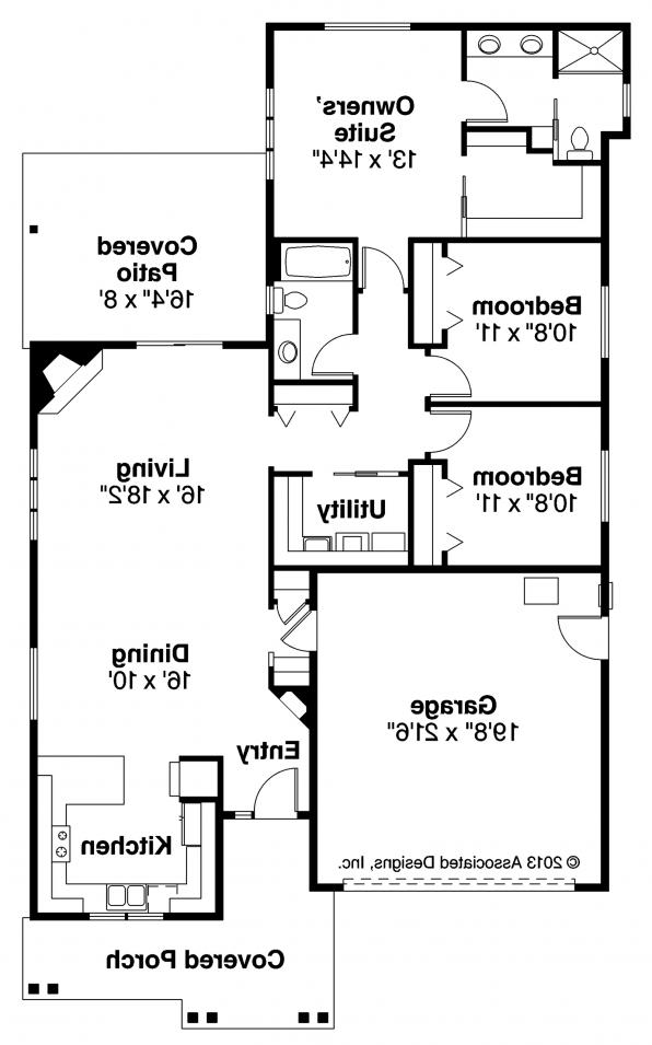 Caspian - 30-868 - Cottage Home Plan - Floor Plan