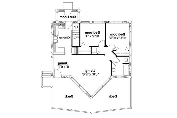 A-Frame House Plan - Sylvan 30-023 - 1st Floor Plan