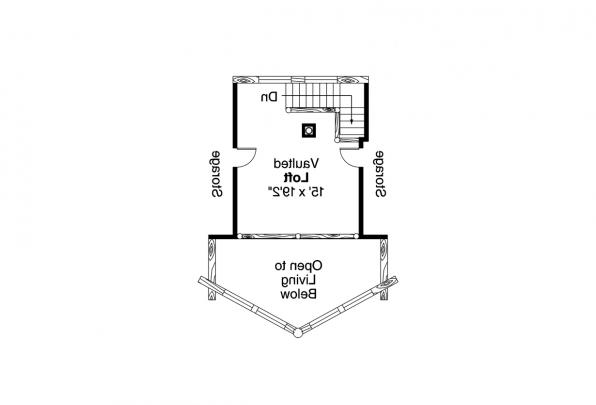 A Frame House Plan - Altamont 30-012 - Second Floor Plan