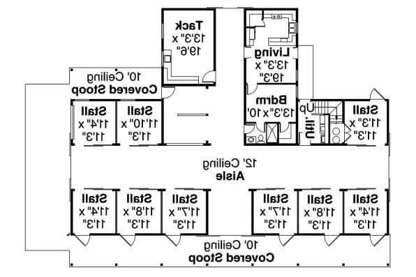 Barn Plan 20-047 - 1st Floor Plan