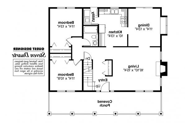 Bungalow House Plan - Alvarado 41-002 - 1st floor Plan