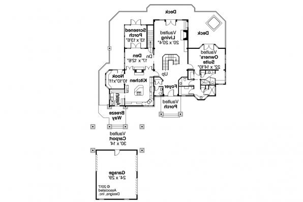 Bungalow House Plan - Colorado 30-541 - First Floor Plan