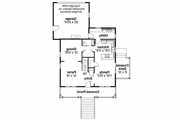 Bungalow House Plan - Fillmore 30-589 - 1st Floor Plan