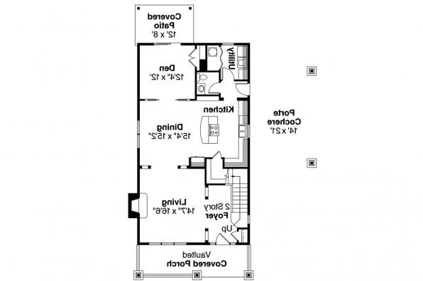 Bungalow House Plan - Maplecreek 30-591 - 1st Floor Plan