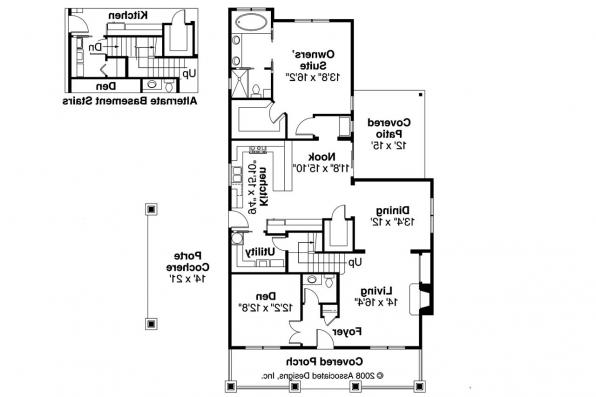 Bungalow House Plan - Markham 30-575 - 1st Floor Plan