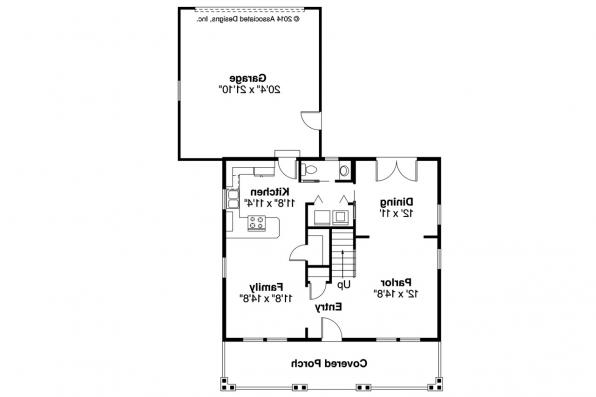 Bungalow House Plan - Richardson 30-102 - 1st Floor Plan