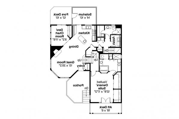 Cape Cod House Plan - Covington 30-131 - 1st Floor Plan