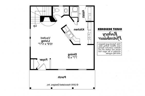 Cape Cod House Plan - Langford 42-014 - 1st Floor Plan