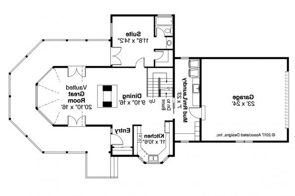 Cape Cod House Plan - New Haven 10-611 - First Floor Plan