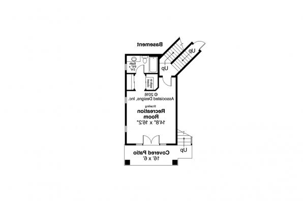 Cape Cod Home Plan - Sherbrooke 30-371 - Daylight Basement