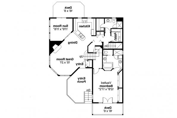 Cape Cod House Plan - Winchester 30-003 - 1st Floor Plan