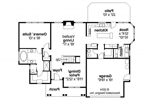 Chateau House Plan - Fitzgerald 30-492 - First Floor Plan