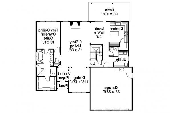 Chateau House Plan - Wedgewood 30-629 - 1st Floor Plan