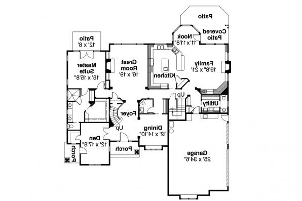 Classic House Plan - Bellingham 30-429 - 1st Floor Plan