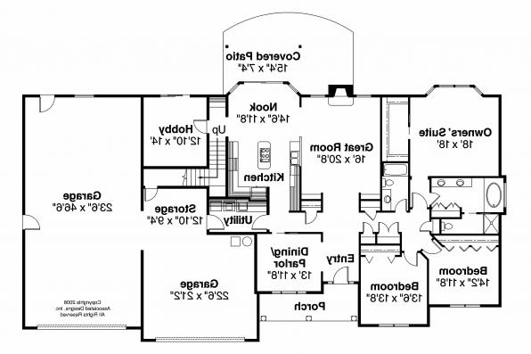 Classic House Plan - Wellesley 30-494 - 1st Floor Plan