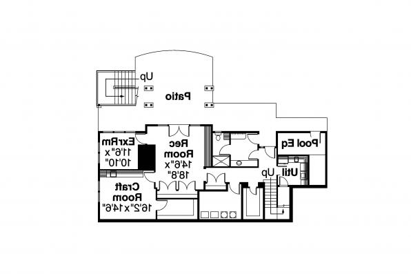 Colonial Home Plan - Princeton 30-497 - Daylight Basement Floor Plan