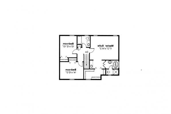 Colonial House Plan - Iverness 42-008 - 2nd Floor Plan