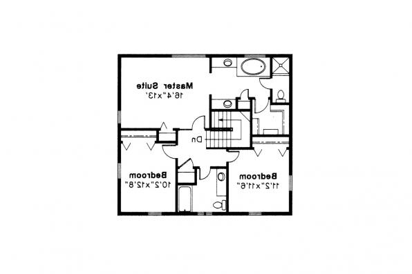 Colonial House Plan - Maumee 42-007 - 2nd Floor Plan