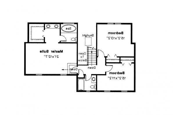 Colonial House Plan - Perrysburg 42-001 - 2nd Floor Plan
