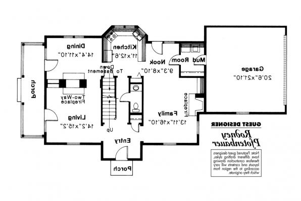 Colonial House Plan - Rossford 42-006 - 1st Floor Plan