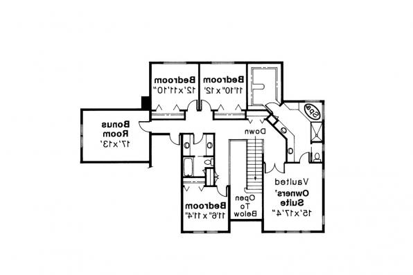 Colonial House Plan - Willmar 30-048 - 2nd Floor Plan