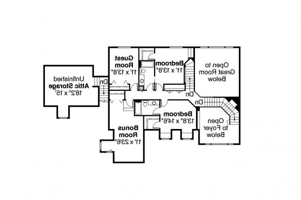 Contemporary House Plan - Aroland 30-121 - 2nd Floor Plan