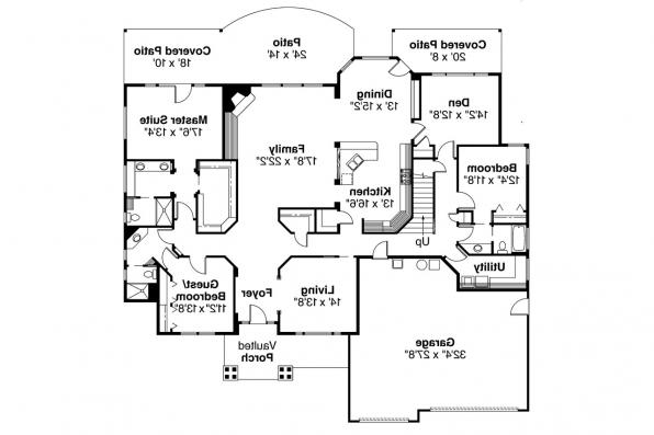 Contemporary House Plan - Asbury 30-237 - 1st Floor Plan