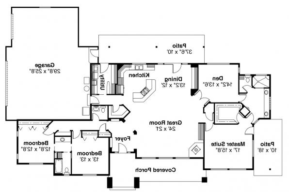 Contemporary House Plan - Belvedere 30-280 - Floor Plan