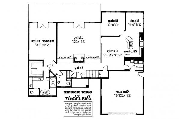 Contemporary House Plan - Brazos 51-001 - 1st Floor Plan