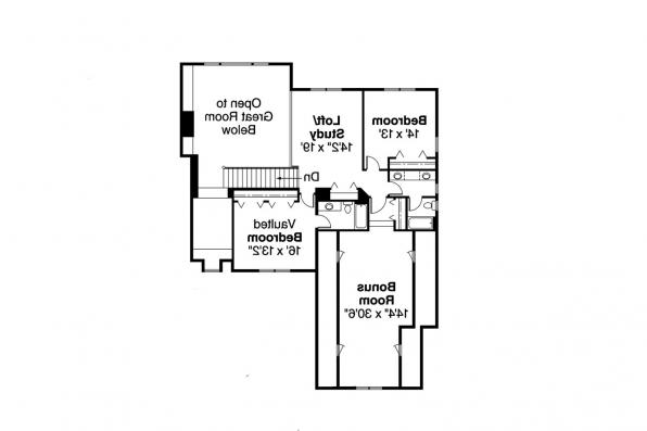 Contemporary House Plan - Centralia 30-164 - 2nd Floor Plan