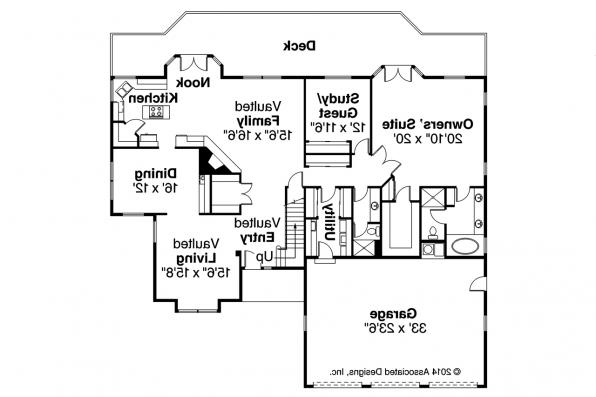 Contemporary House Plan - Compton 10-019 - 1st Floor Plan