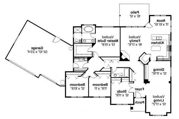 Contemporary House Plan - Dawson 30-140 - Floor Plan