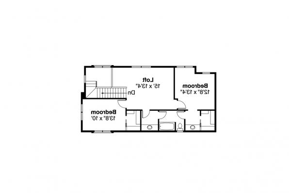 Contemporary House Plan - Eastlake 30-869 - 2nd Floor Plan