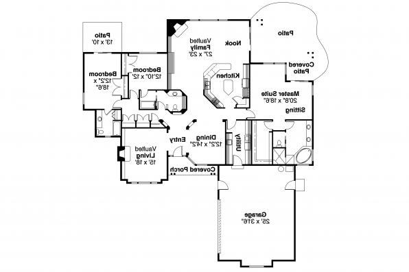 Contemporary House Plan - Irvington 30-493 - Floor Plan
