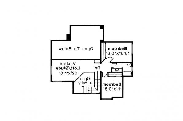 Contemporary House Plan - Mayfield 10-095 - 2nd Floor Plan