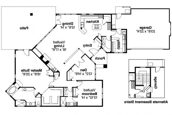 Contemporary House Plan - Norwich 30-175 - Floor Plan