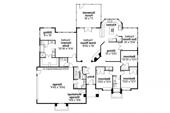 Contemporary House Plan - Sedalia 10-231 - Floor Plan