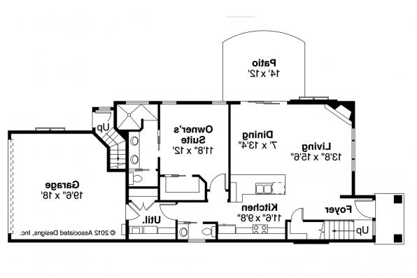 Contemporary House Plan - Stinson 30-891 - 1st Floor Plan
