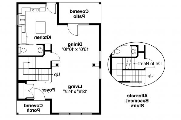 Cottage House Plan - Emerson 30-108 - 1st Floor Plan